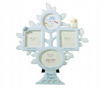 Lillian Rose Blue Owl Baby's First Year Picture Frame